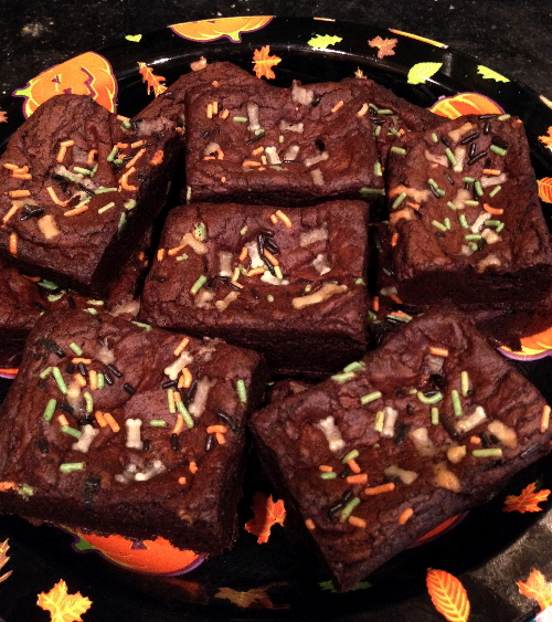 Chili-spiced brownies
