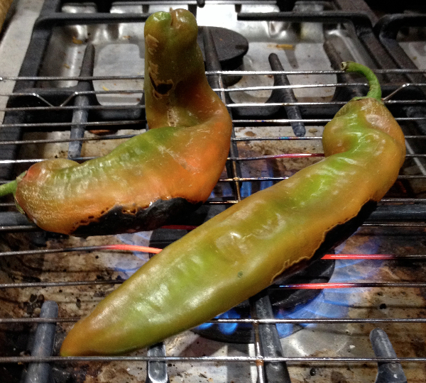 Roasting Hatch Chiles 2