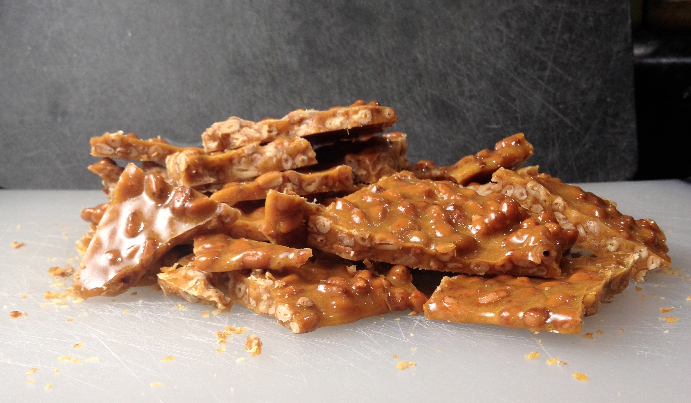 Pine Nut Brittle | Flamingo Musings